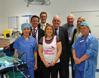 30 September 2016. Presentation by Swindon IA of Trans Anal Operating equipment to the Great Western Hospital, Swindon. Pictured from the left: Theatre Nurse, Rodelyn Balongo - Colorectal & General Surgeon, Mr R. Alexander - Fred Dale from Karl Storz - Lisa Utting from Brighter Futures - Swindon IA secretary, Martin Brien - Swindon IA chairman, Frank Williams - Samantha Hall from Karl Storz - Theatre Nurse, Marie McGahey.